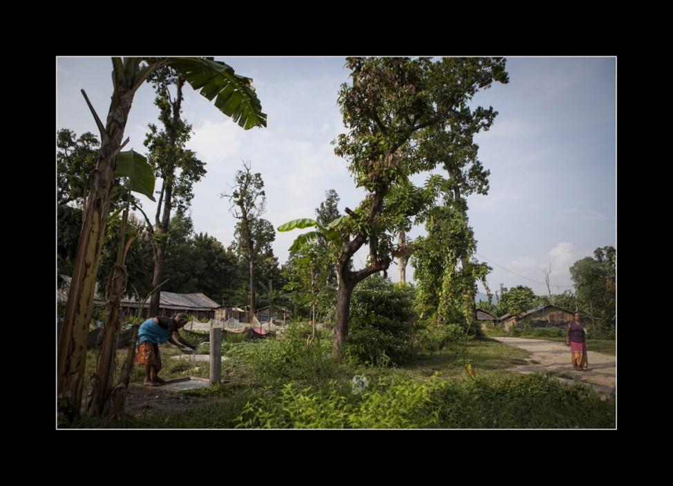 Menschen im Flüchtlingslager Beldanghi, Nepal