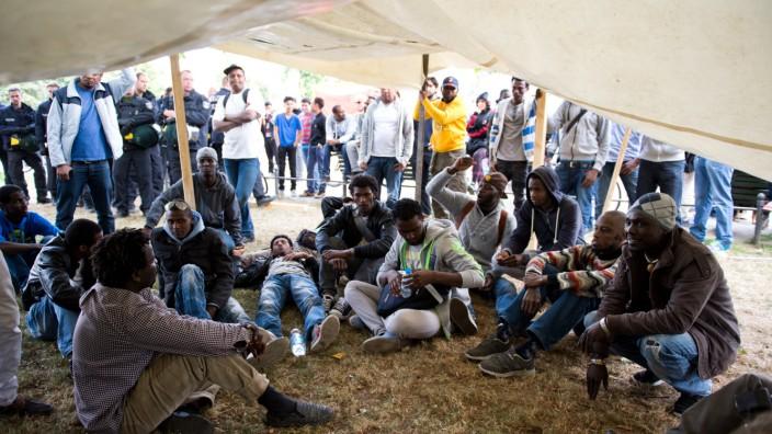 Flüchtlingsprotest in Kreuzberg