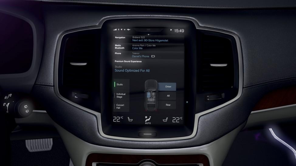 Der Touchscreen des neuen Volvo XC90