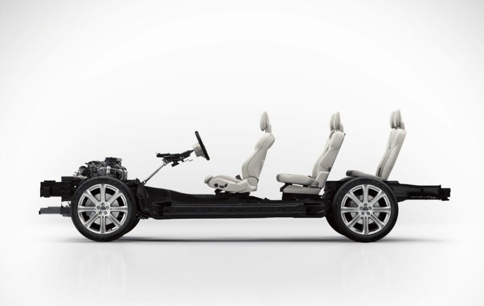 Die SPA-Plattform des neuen Volvo XC90.