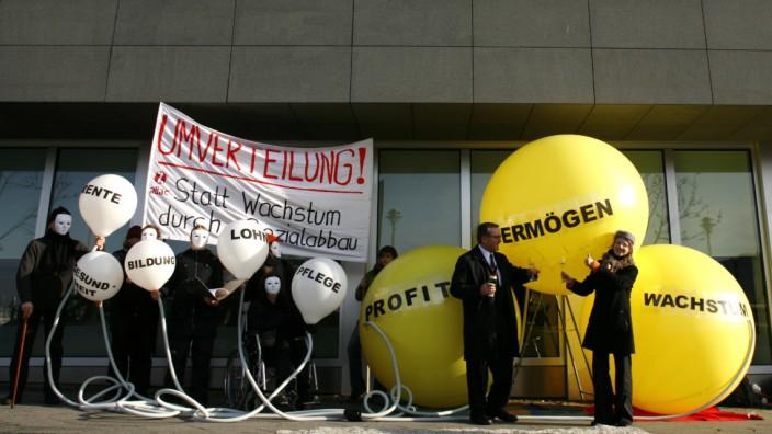 Protestaktion von Attac