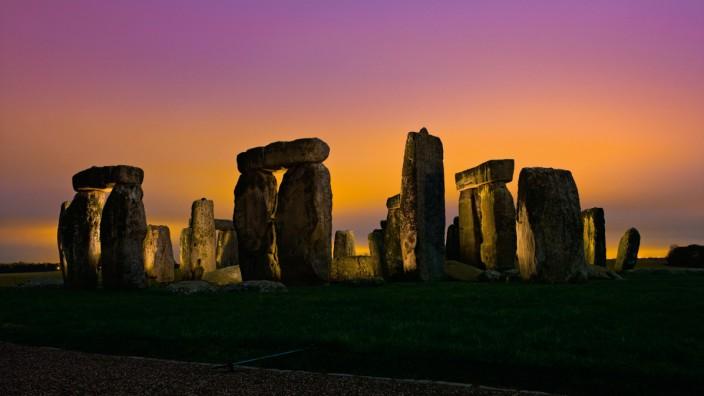 Archäologische Sensation: Mysteriöser Steinkreis: Stonehenge in einer Aufnahme des Magazins National Geographic