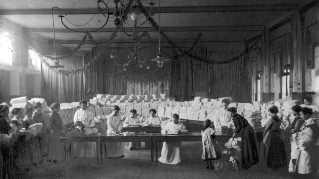 Verteilung von Heimarbeit, 1917