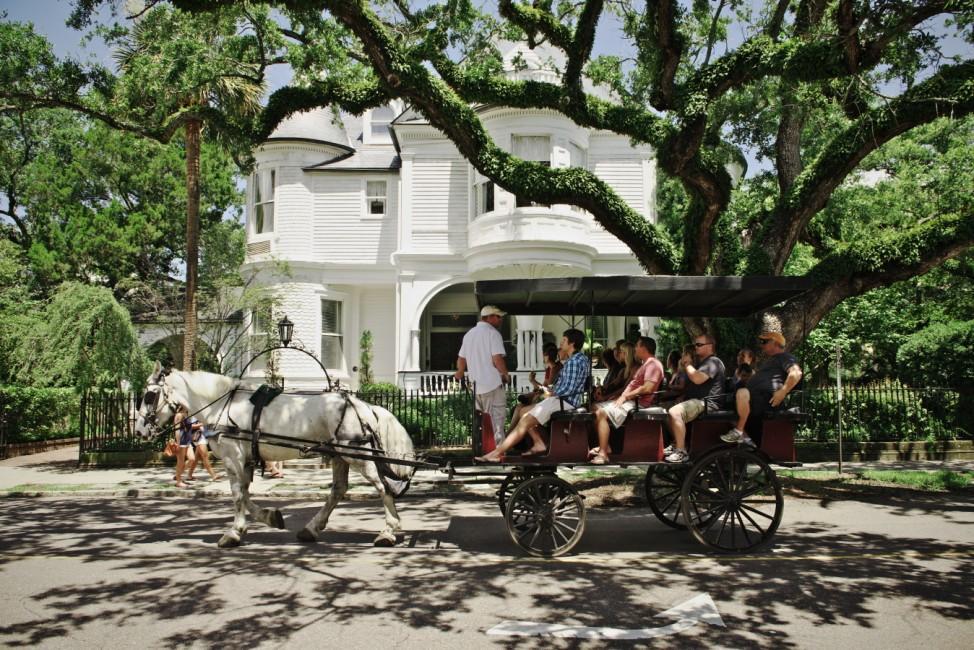 Kutschfahrt im Zentrum von Charleston