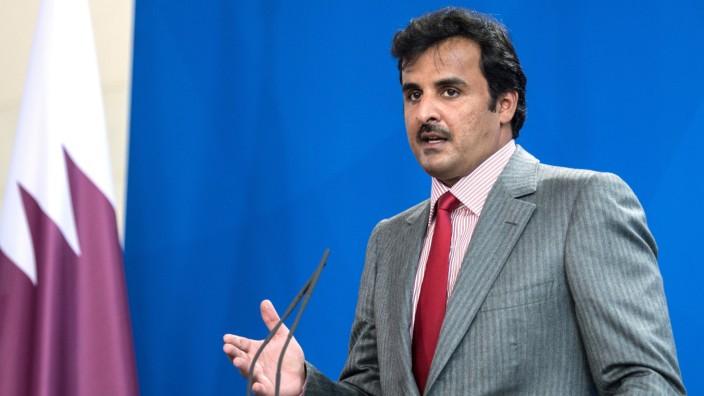 Merkel empfängt Emir von Katar