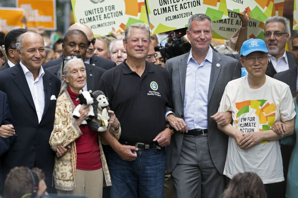 Laurent Fabius, Jane Goodall, Al Gore, Bill de Blasio, Ban Ki-moon