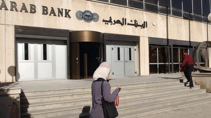Milliardenklagen: Die Zentrale der Arab Bank in der jordanischen Hauptstadt Amman