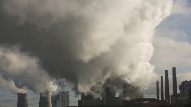 File photo of smoke billowing from the RWE brown coal power plant in Neurath near Garzweiler open-cast brown coal mine, west of Cologne