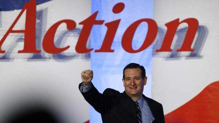 US Senator Cruz walks onstage at Values Voter Summit in Washington