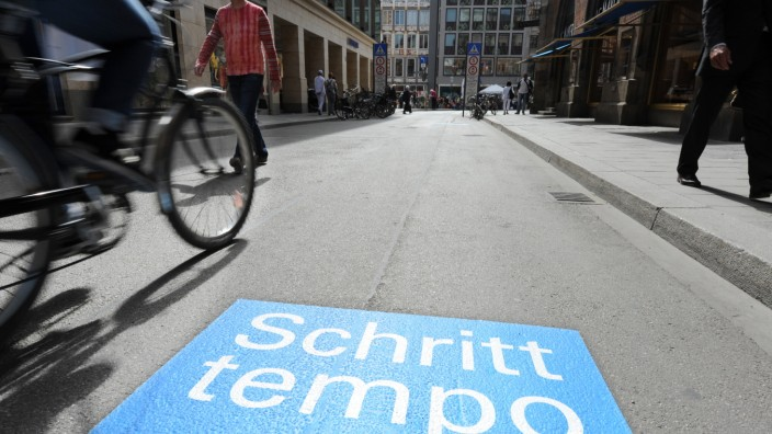 Radfahrer in der Münchner Innenstadt, 2014