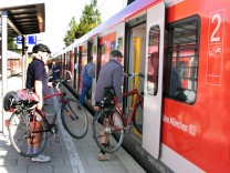 Bahnsteig in Weßling
