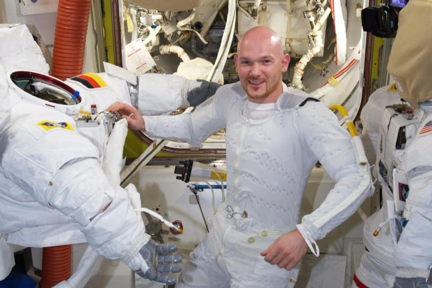 Alexander Gerst vor Außeneinsatz an der ISS