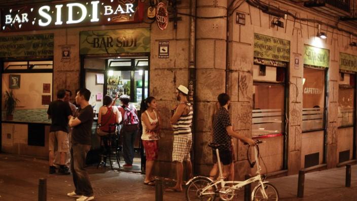 Nachtleben in Madrid, Viertel Malasaña, Spanien