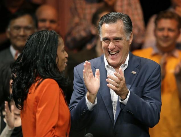 Mitt Romney auf einer Wahlkampfveranstaltung in Utah