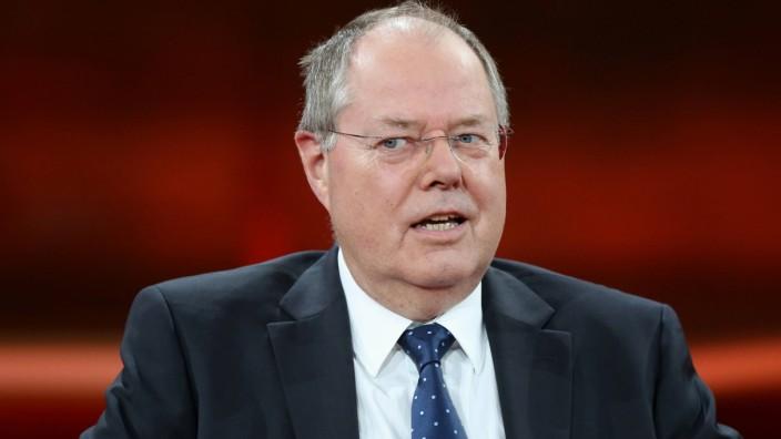 Prof Dr h c Peer Steinbrück Bundesminister der Finanzen a D SPD in der ARD Talkshow GÜNTHER
