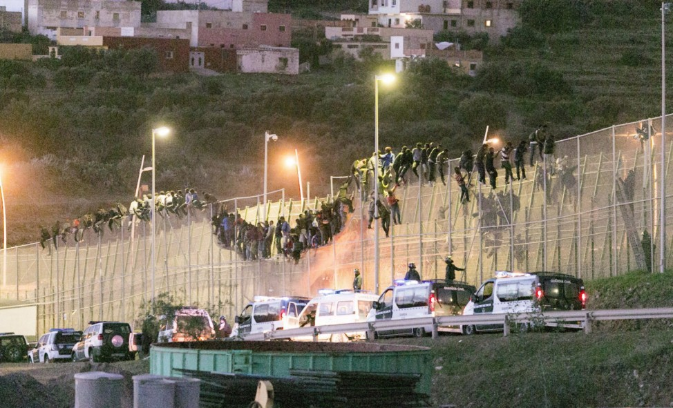 Migrants try to reach Spain
