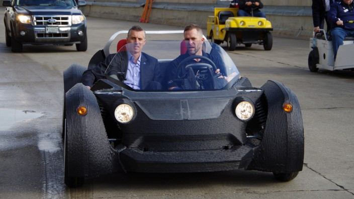 Der Local Motors Strati bei einer Testfahrt
