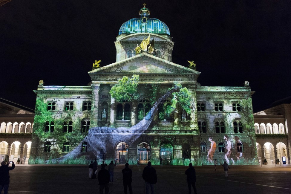 Light spectacle in Bern