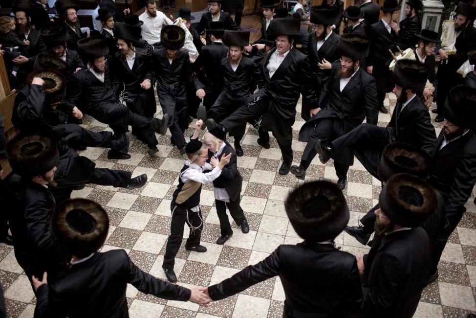 Ultra Orthodox Jews celebrate Simchat Torah in Jerusalem