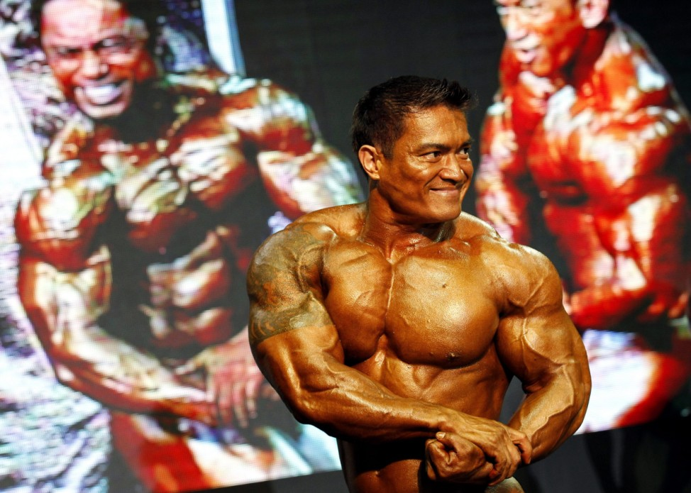 Bodybuilding competition in Bangkok
