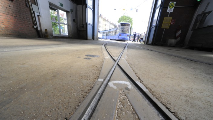 Straßenbahndopot in München, 2010