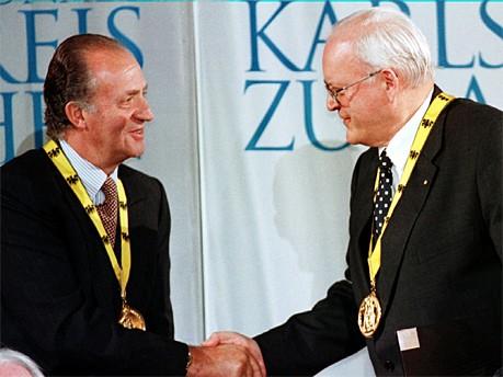 König Juan Carlos von Spanien Roman Herzog dpa