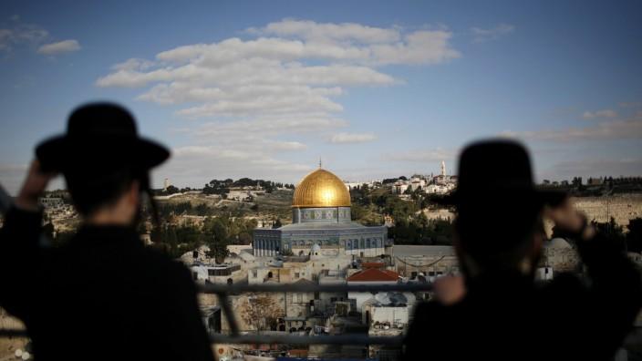 Jerusalems Altstadt mit dem Felsendom auf dem Tempelberg