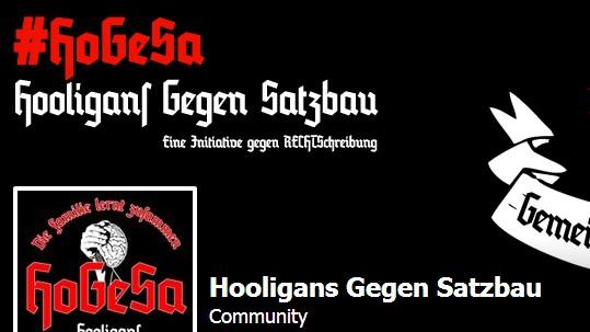 """""""Hooligans gegen Satzbau"""" auf Facebook"""