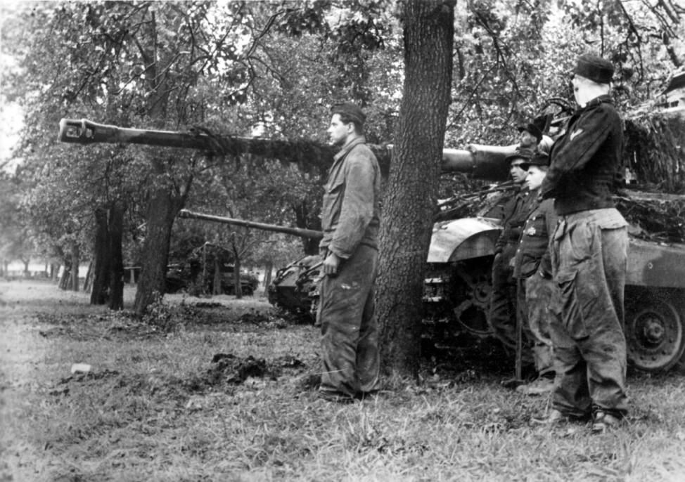 """Deutsche Panzer VI """"Tiger II"""" in Frankreich, 1944"""
