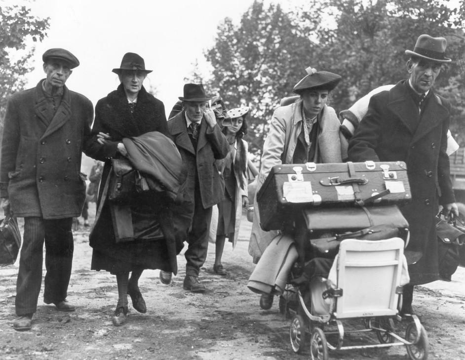 Deutsche Flüchtlinge in Aachen, 1944