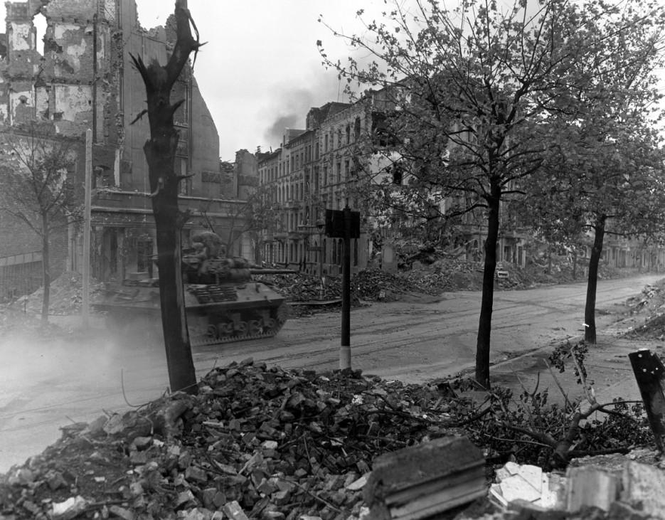 US-Truppen marschieren in Deutschland ein, 1944 Zweiter Weltkrieg
