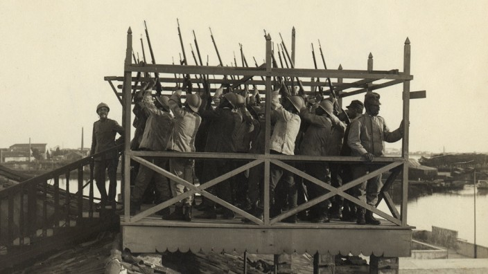 Erster Weltkrieg Luftabwehr in Venedig Italien