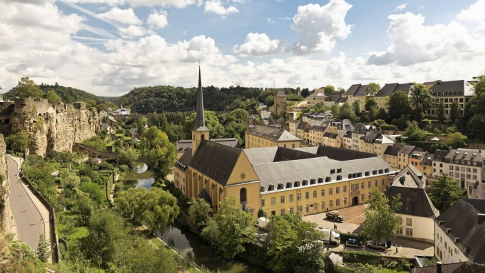Luxembourg: Blick auf die Altstadt von Luxemburg mit den Kasematten