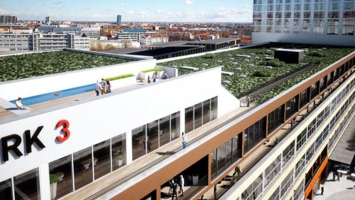 Loft-Gebäude mit grüner Wiese