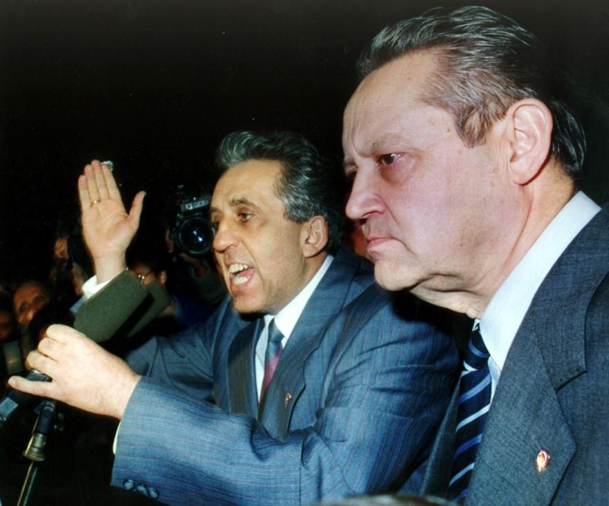 Egon Krenz und Günter Schabowski, 1989