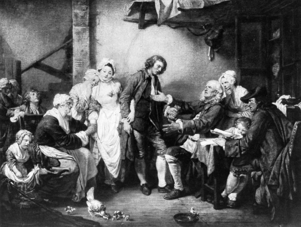 """""""Die Dorfbraut"""" von Jean Baptiste Greuze"""