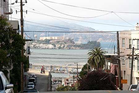 Blick auf die Gefängnisinsel Alcatraz, Jacobi