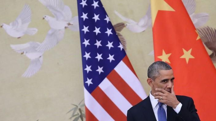 U.S. President Barack Obama Visits China Klima