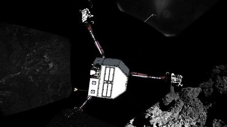 Rosetta-Mission: In dieser Position - inmitten von Felsen - könnte Philae auf dem Kometen 67P gestrandet sein