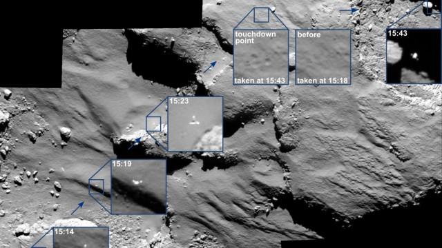 Bilder von Raumsonde Rosetta: So verlief Philaes Drift über den Kometen