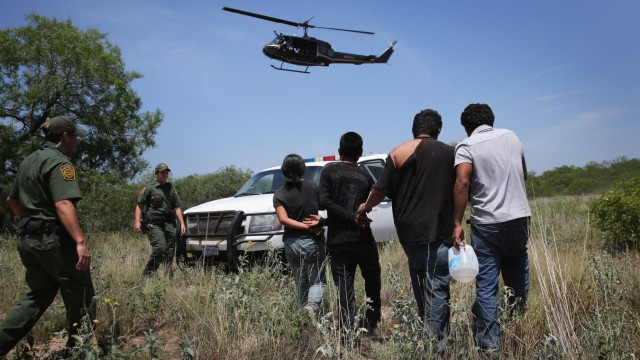 US Customs And Border Security Agents Patrol Texas-Mexico Border