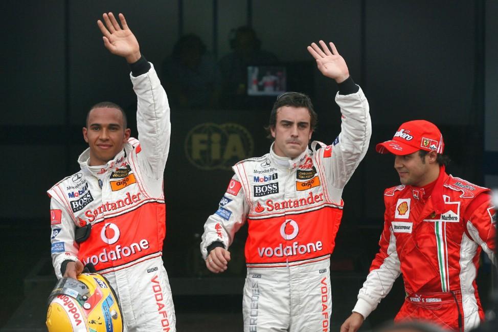 Formel 1 - GP Monaco - Alonso, Hamilton und Massa