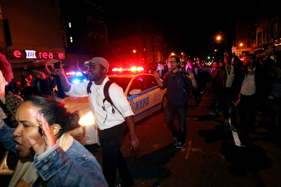 Activists In New York Respond To Ferguson Grand Jury Decision