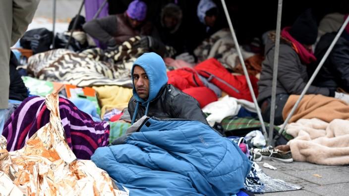 Flüchtlinge im Hungerstreik in München, 2014