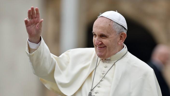 Rom Generalaudienz Papst Franziskus I Rom Vatikan 26 11 2014 Papst Franziskus I bei der woechent