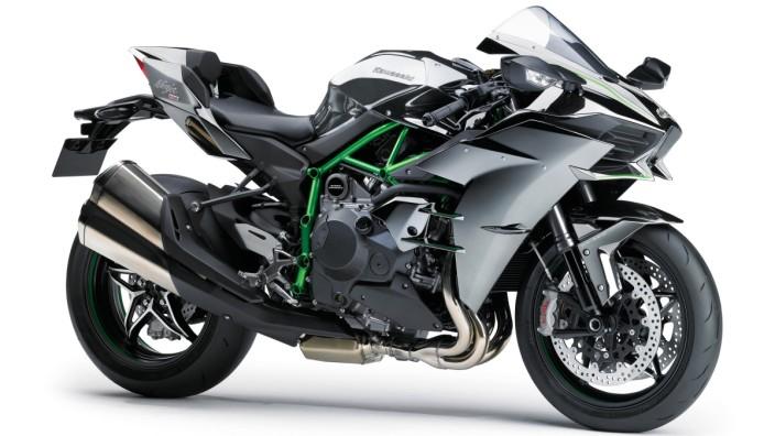 Kawasaki Ninja H2 mit Kompressormotor.