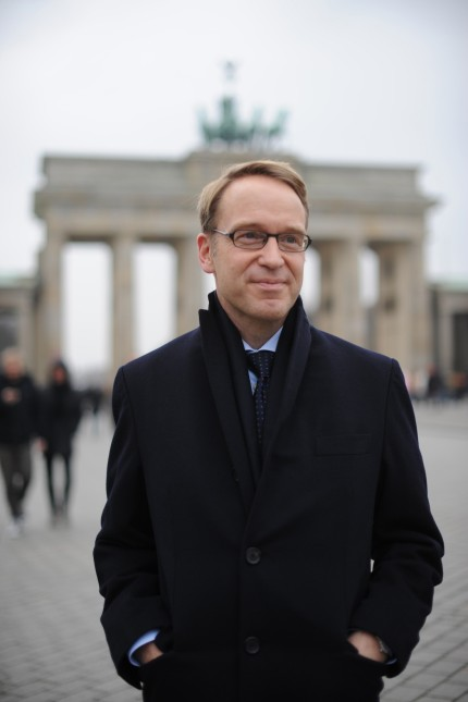 Jens Weidmann: Jens Weidmann am Brandenburger Tor beim Wirtschaftsgipfel 2014 der Süddeutschen Zeitung in Berlin.