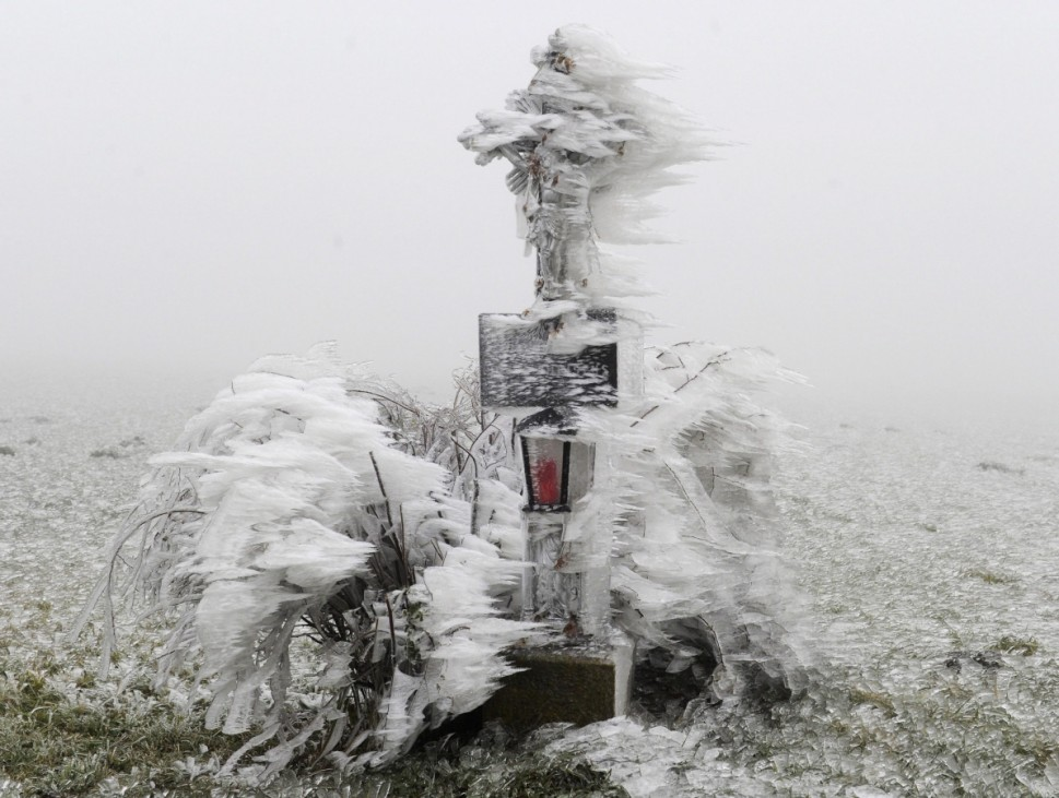 Wintry weather in Austria