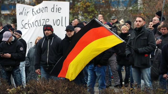 Demonstration zur Flüchtlingspolitik