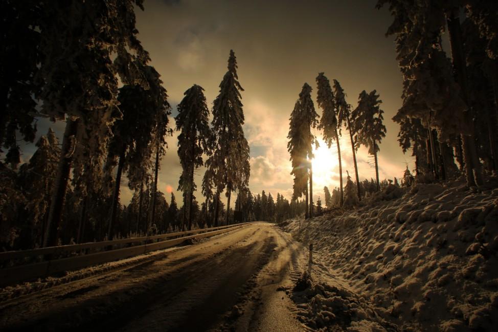 Eis und Schnee auf dem Feldberg